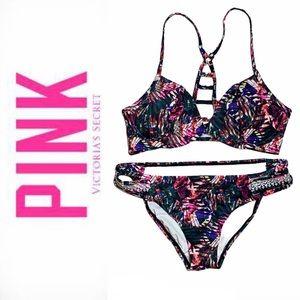 PINK Victorias Secret | Bikini Strappy Caged